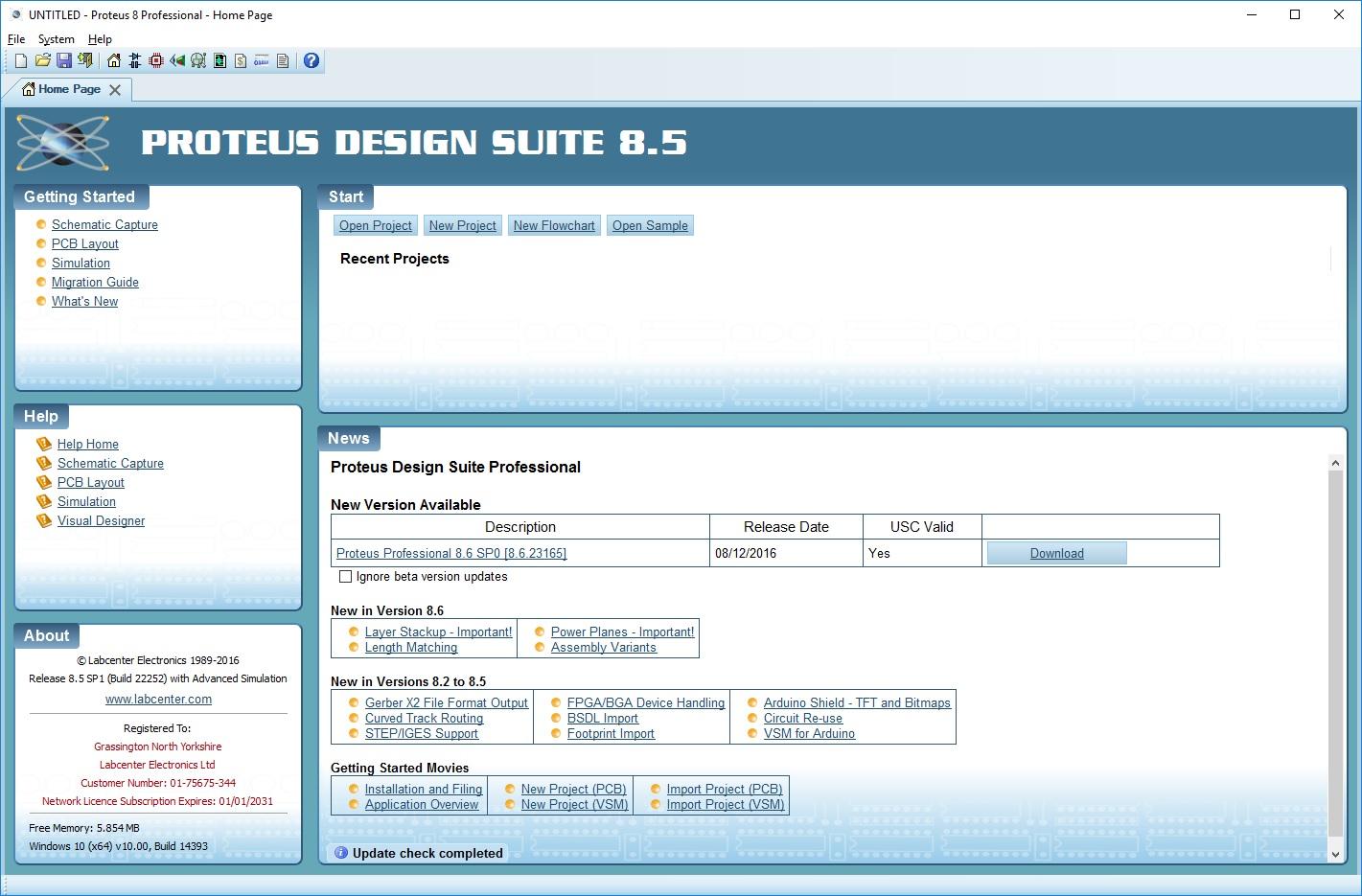Proteus 8.6 SP2 (build 32525) Professional - ENG