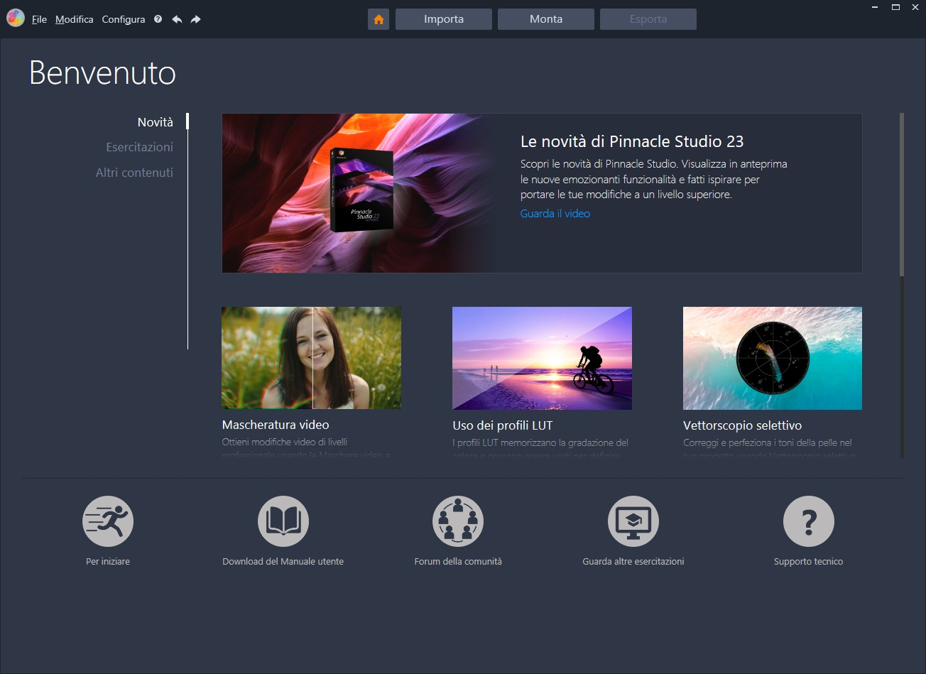 Pinnacle Studio Ultimate v24.0.2.219 64 Bit + Content Pack - ITA