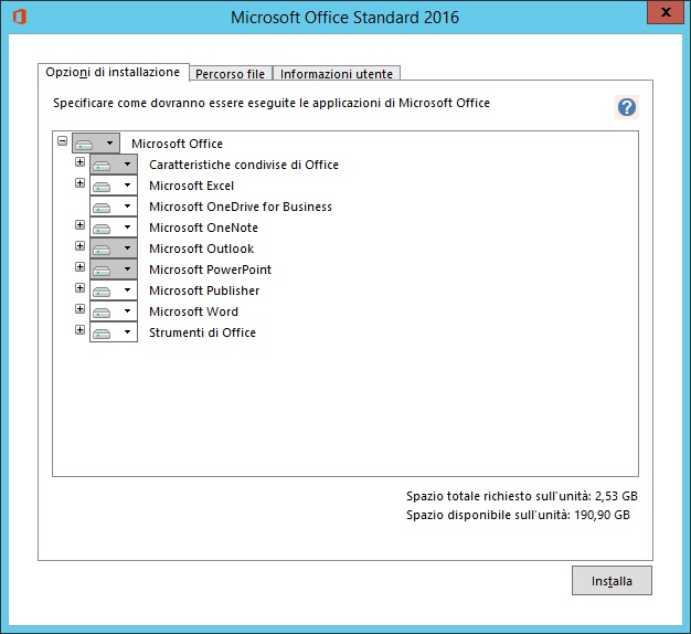 Microsoft Office Standard 2016 v16.0.4738.1000 - Ottobre 2018 - Ita
