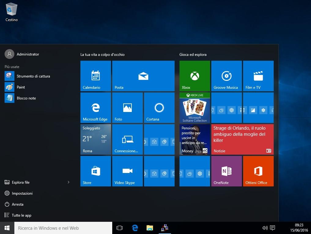Microsoft Windows 10 Pro VL 1709 AIO 2 In 1 Fall Creators Update - Febbraio 2018 - Ita