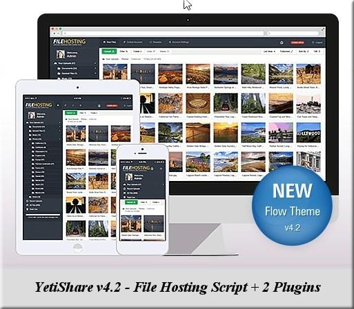YetiShare v4.2 - File Hosting Script + 2 Plugins