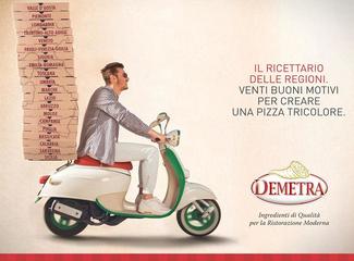 Demetra - Ricettario delle Regioni. Venti buoni motivi per creare una pizza tricolore (2017)