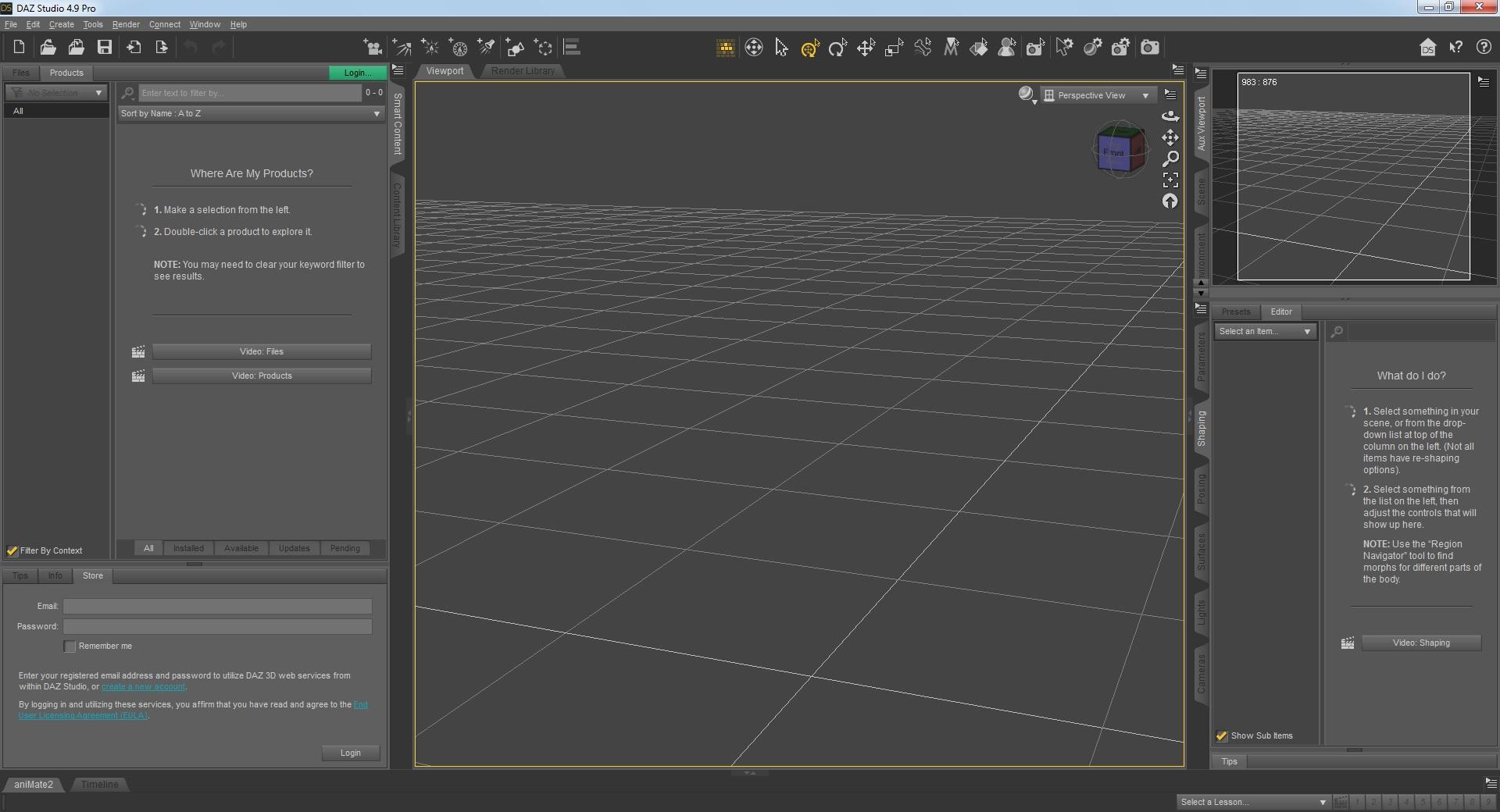 DAZ Studio Pro v4.14.0.10 x64 - ENG