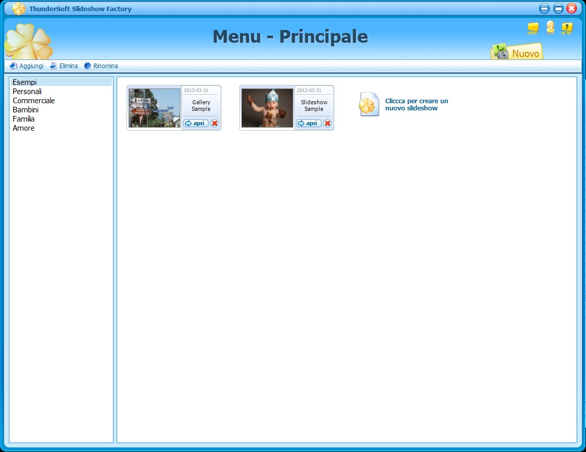 ThunderSoft Slideshow Factory 4.9.0   Template - ITA