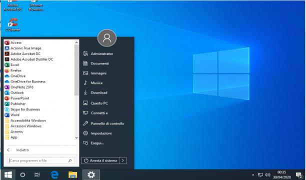 Microsoft Windows 10 Pro v1909 + Office 2019 & More - Aprile 2020 - Ita