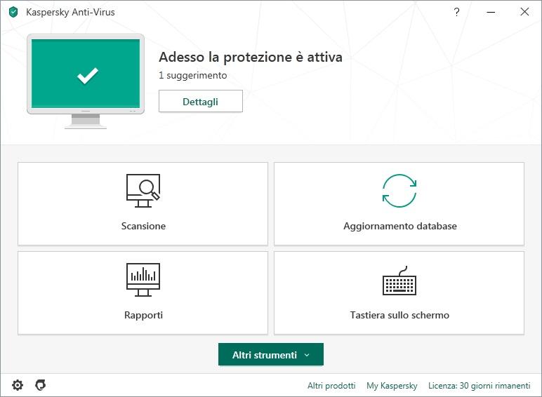 Kaspersky Anti-Virus 2020 v20.0.14.1085.0.2056.0 (c) - ITA