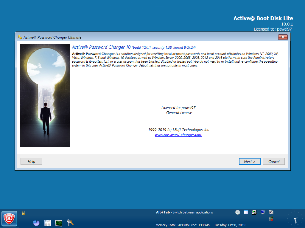 Active@ Password Changer Ultimate v10.0.1   WinPE - ENG